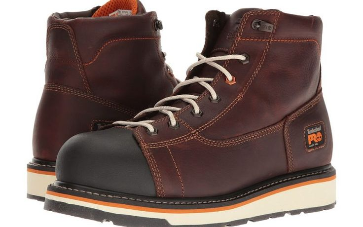 Timberland PRO Gridworks 6 Alloy Safety Toe Boot (Red/Brown Full-Grain Leather) Men's Work Boots - Timberland PRO, Gridworks 6 Alloy Safety Toe Boot, TB0A1GNL214-210, Footwear Boot Work, Work, Boot, Footwear, Shoes, Gift, - Street Fashion And Style Ideas