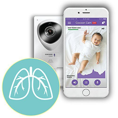 Cocoon Cam Baby Video Monitor with Breathing Detection Real-Time Alerts 2 Way Audio Video Sleep Movement and Sound