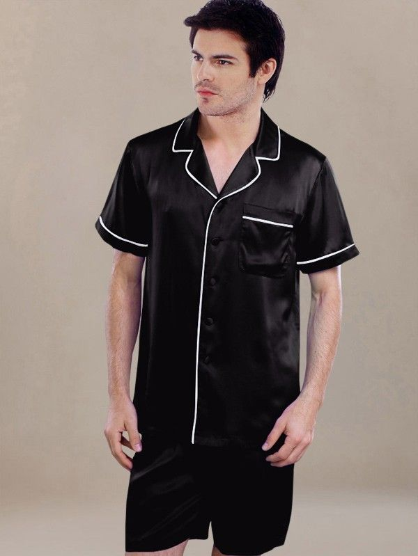 Black Silk Pajamas: 1000+ Images About Silk Sleepwear For Men On Pinterest