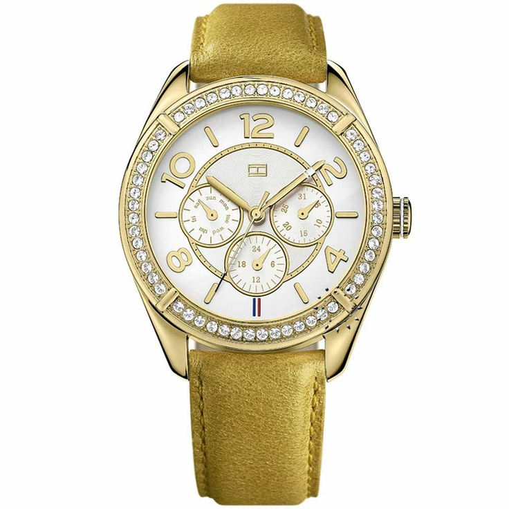 Tommy Hilfiger Gold Leather Strap Τιμή: 133€ http://www.oroloi.gr/product_info.php?products_id=28459