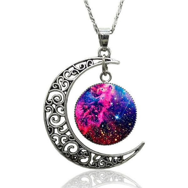 Necklace crescent moon Evil Cat Eye Punk Silver HARAJUKU Goth Kawaii... ($3.36) ❤ liked on Polyvore featuring jewelry, necklaces, silver star jewelry, gothic necklace, punk necklace, rock jewelry and punk rock jewelry