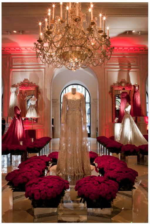 Elie Saab exhibition at Hotel George V in #Paris during #PFW via @ElieSaabWorld