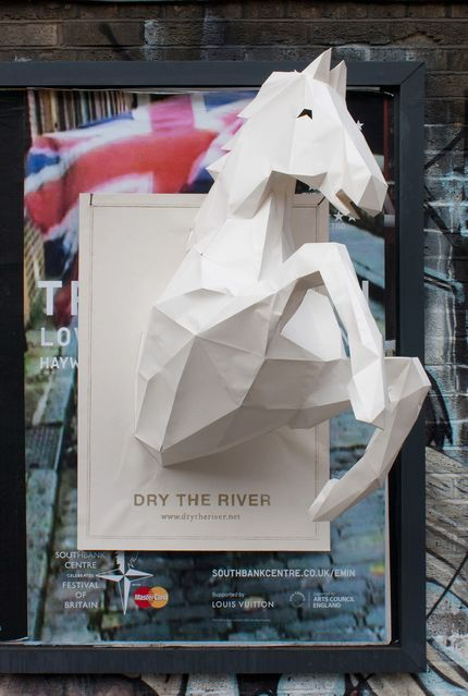 Yes, these posters for new band Dry The River really do feature a three-dimensional paper horse galloping forth.: Campaigns Posters, Except, Prints Observed, Paper Art, Paperart, 3D Posters, Rivers, Paper Crafts, Bands Posters