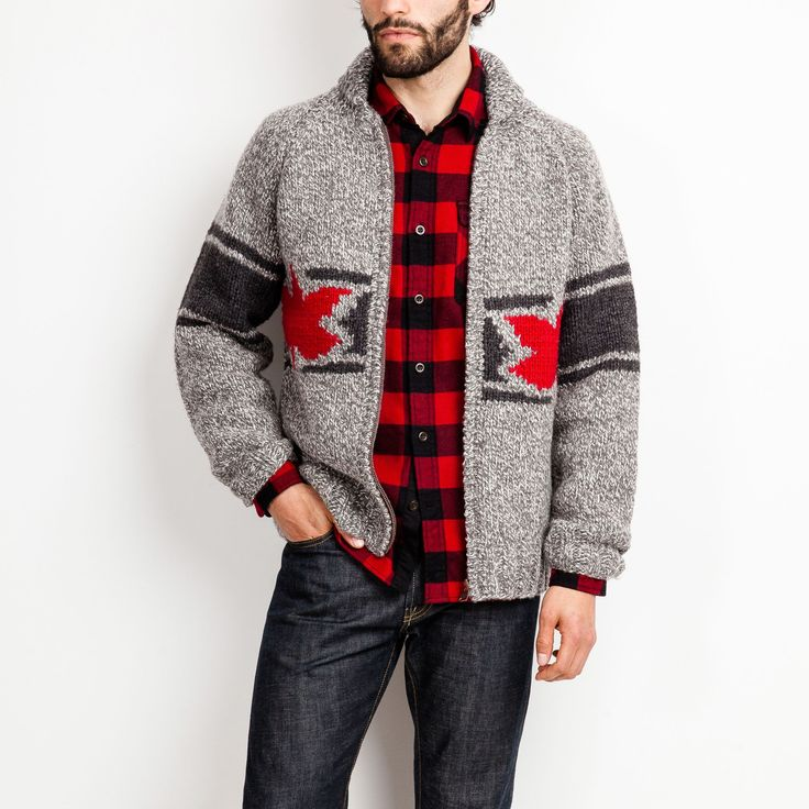 Mens Mary Maxim Rink Sweater | Roots Sweaters-Cardigans