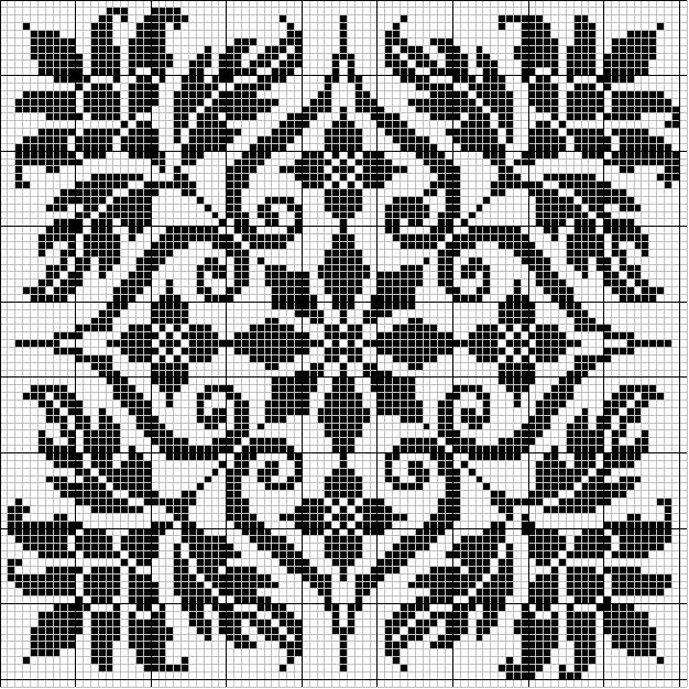 Pretty square charts for cross stitch (website in english and spanish)