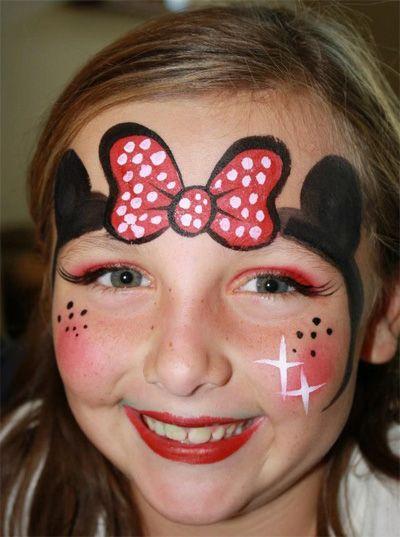 Trucco del viso per Carnevale per bambini da Minnie