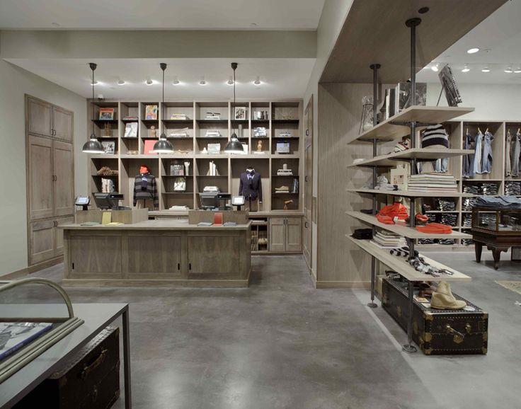 Love the industrial shelves