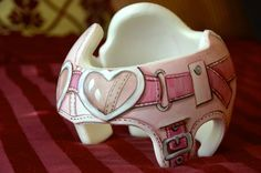 Pink Aviator band with hear goggles DOC band/Cranial band/Helmet  https://www.facebook.com/pages/Cranial-BandsMurals-by-Leigh-Gibson/153150921414230