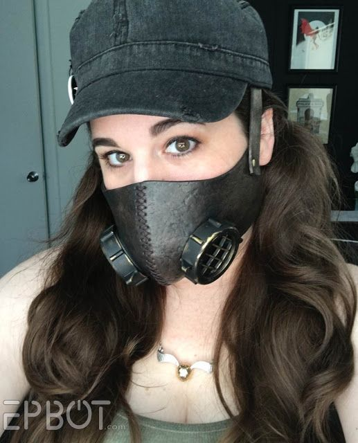 "Faux ""Respirator"" Mask For Cons - Free Template & Tutorial! - leather or craft foam - helps you keep from getting ""con crud"" - you could decorate the heck out of this, too!!"