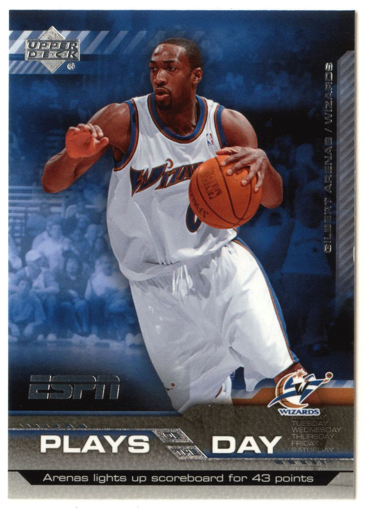 Gilbert Arenas # PD-20 - 2005-06 Upper Deck ESPN Basketball Plays of the Day