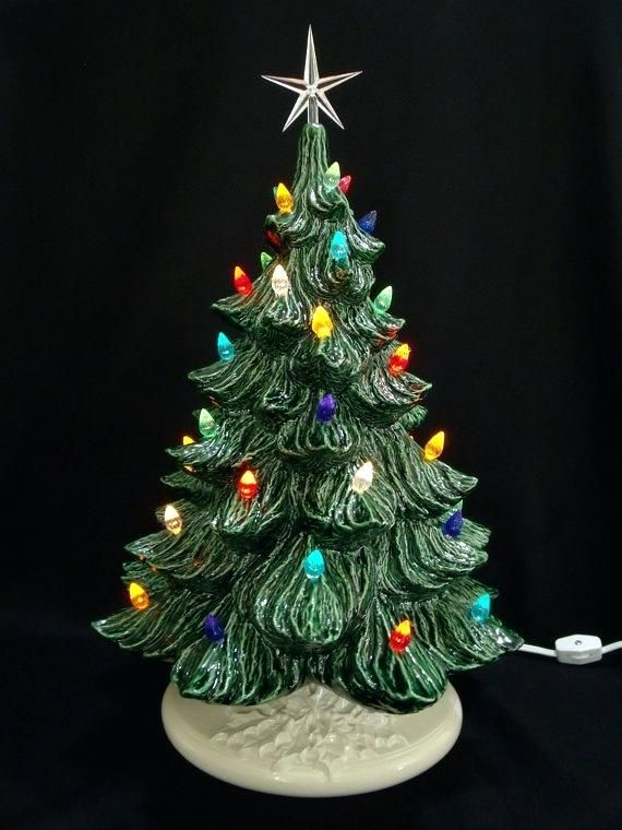 Small Ceramic Christmas Tree With Lights Classic Ceramic Tree W Music Box  In Christmas Tree Ceramic Christmas Tree Lights Pottery - Small Ceramic Christmas Tree With Lights Classic Ceramic Tree W