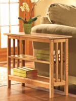 Slim Bookcase Table - Solid Wood USA Made Furniture | Solutions
