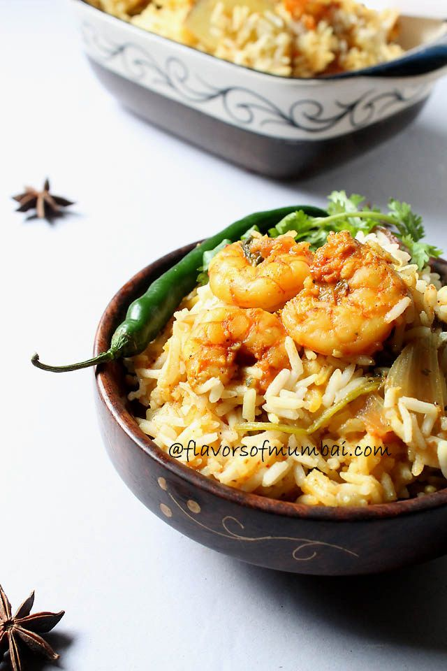Prawns Biryani Recipe, How to make Prawns Biryani We love sea food home. I wanted to make some nice dish from fresh prawns.