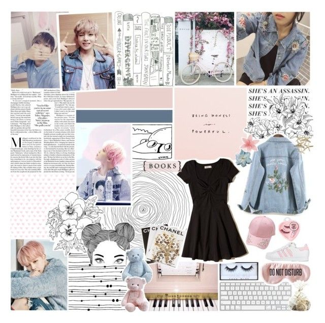 """""""1133   but i keep on coming back to you~"""" by wintervale on Polyvore featuring Huda Beauty, Hollister Co., Assouline Publishing, adidas, Medusa's Makeup, Clips, BaubleBar and Crate and Barrel"""