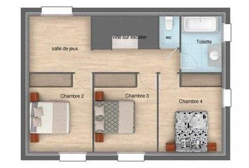 Plan de maison à 4 chambres  une sélection pour s\u0027inspirer - Logiciel Pour Maison D