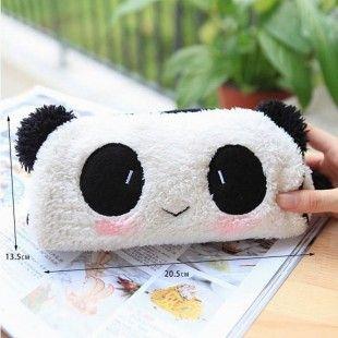 Trousse panda en peluche