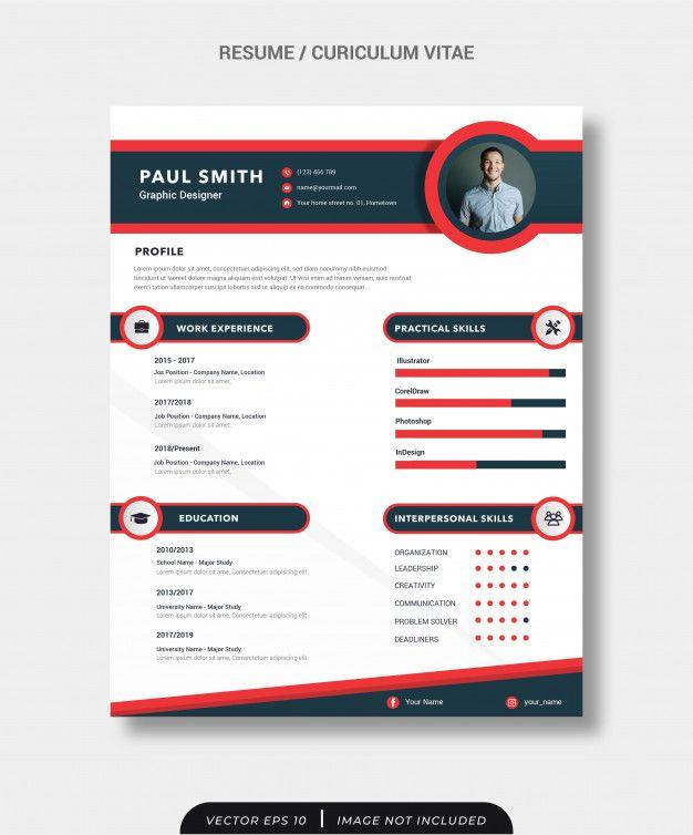 Resume Cv Template Desain