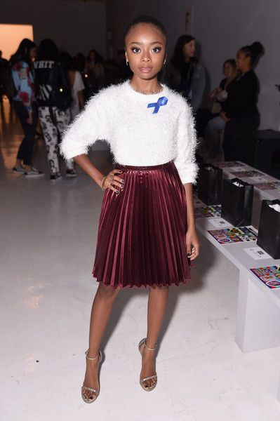 Actress Skai Jackson attends Libertine fashion show during New York Fashion Week: The Shows at Gallery 3, Skylight Clarkson Sq on September 11, 2017 in New York City.