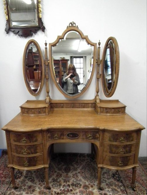 Victorian Dressing Tables With Mirrors Faded Mahogany 3 Mirror Table Adams