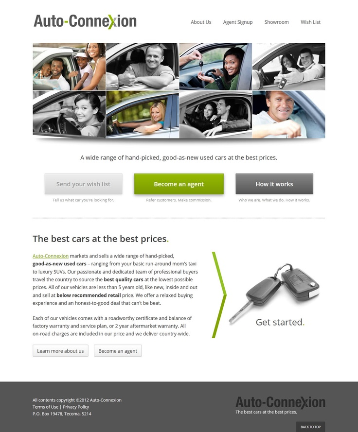 Website design for Auto-Connexion.