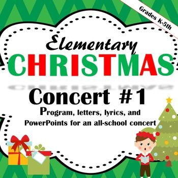 Elementary Christmas Concert #1 (Winter Music Concert) contains much of what you will need to put on an all-school elementary Christmas Concert.Click the link below to view a Spring Music Concert from my store:Elementary Music ConcertClick the link below to view Christmas-themed Coloring Pages:Music Coloring Pages (Christmas)Included in this product:-- 1 program (contains the list of songs I purchased and used in the concert)-- 2 letters to parents-- soloist permission slips-- directions…