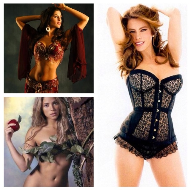 Healthy hourglass and pear figured celebrity women Sadie Marquardt, Shakira, and Sofia Vergara like to stay fit by dancing and only dancing. I love dancing for fun and fitness. Salsa, merengue, carnival/Rio samba, belly dance, bachata, etc.