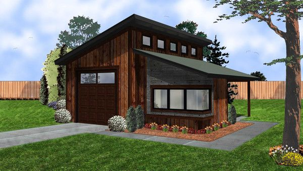Kimmons Garage Modern House Plan In 2019 Garage Plans