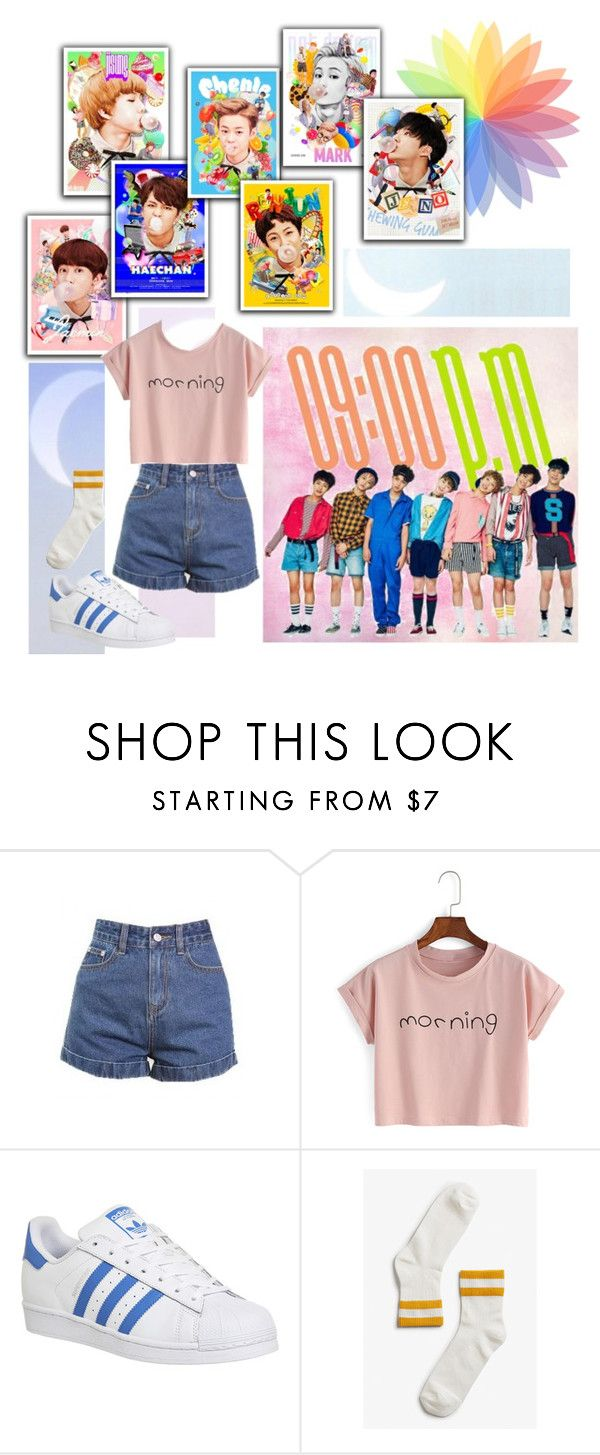"""""""NCT DREAM Chewing Gum"""" by ninaxo17 ❤ liked on Polyvore featuring Ultimo, adidas and Monki"""
