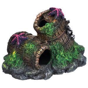 Top fin barnacle barrel aquarium ornament ornaments for Petsmart fish decor