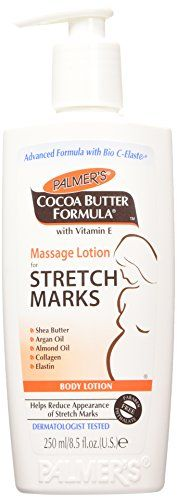 Palmer's Palmers Cocoa Butter Formula Massage Lotion for Stretch Marks, with Vitamin E and Shea Butter, Women Body Lotion, 8.5 Ounce. (Pack of 3)