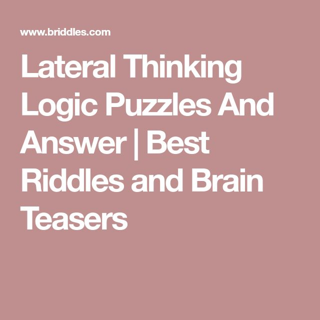 The 25+ best Lateral thinking ideas on Pinterest | Math puzzles ...