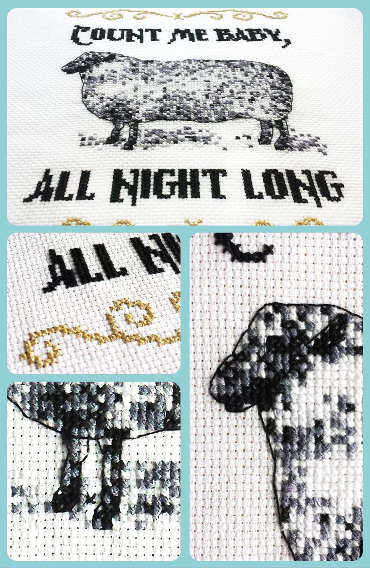This funny cross stitch pattern for sheep lovers just cracks me up