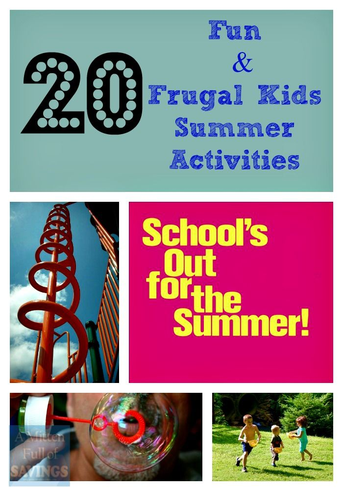 Boredom Busters 20 Fun And Frugal Kids Summer Activities