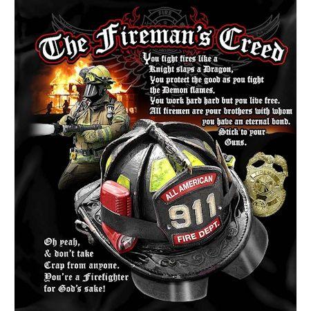 The Firemans Creed Tshirt | Firefighter Apparel | Firefighter.com