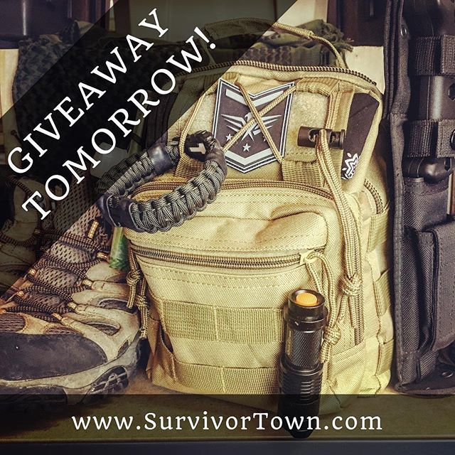 🌲🇺🇸🏕 Hey everyone GIVEAWAY TOMORROW our Fight or Flight tactical sling bag! Enter now at SurvivorTown.com!  Link in bio. Winner announced, Monday, June 31st and good luck! (Winner will receive one tactical sling bag. Other items shown in photo are not part of the giveaway.) #fightorflightsurvivalgeargaw #bugoutbag #Survivalist #prepper #preppers #survival #bugout #bushcraft #survivalcraft #urbansurvival #offgrid #shtf #preparedness #selfreliance #camping #donttreadonme #prepping #rewild…