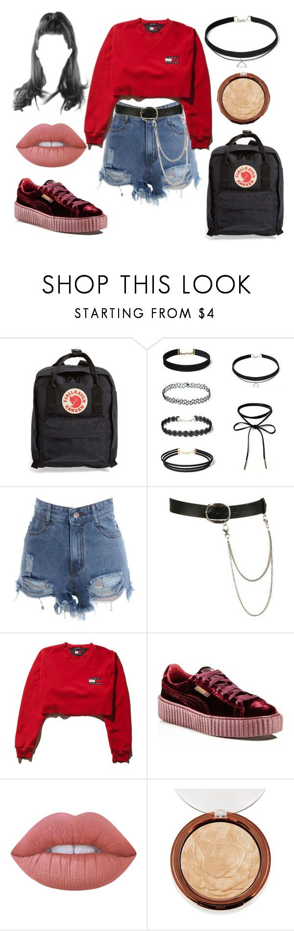 """""""Untitled #2162"""" by inocorbe ❤ liked on Polyvore featuring Fjällräven, Wet Seal, Puma and Lime Crime"""