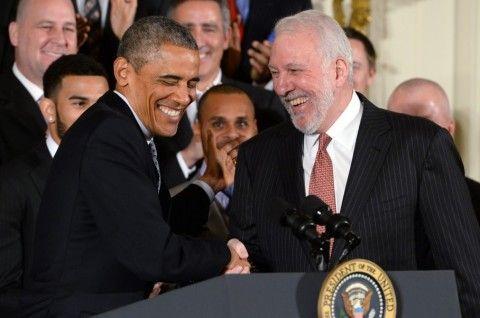 President Barack Obama ribs 'old, boring' San Antonio Spurs during White House visit - The Washington Post