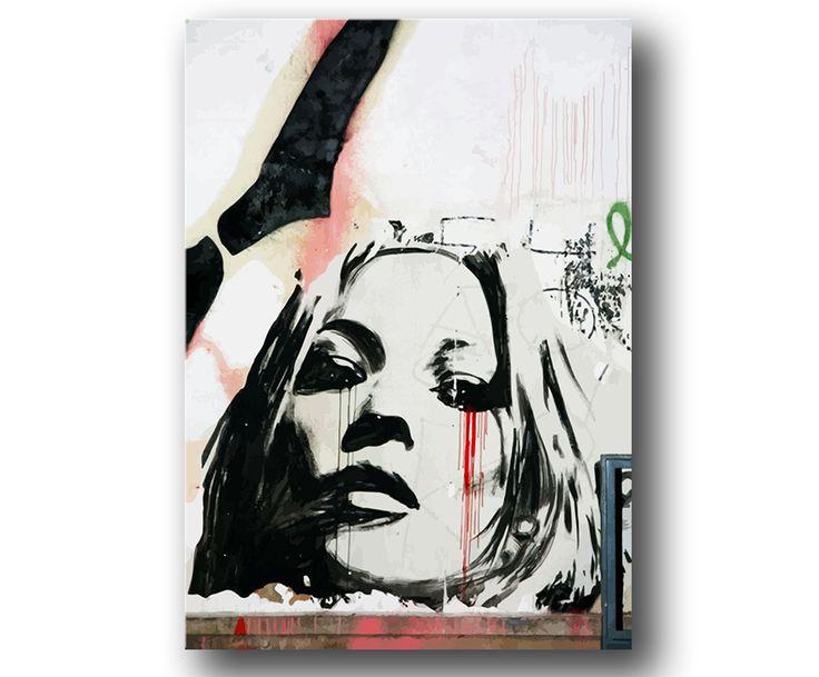 """""""Kate Moss"""" Graffiti Tavla / Posters / Affisch"""