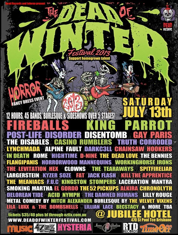 Dead Of Winter Festival 2013!! www.deadofwinterfestival.com