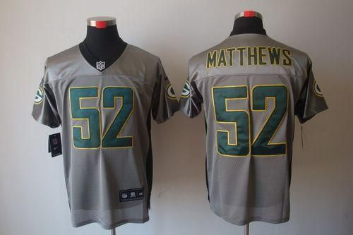 """$26.88 at """"MaryJersey""""(maryjerseyelway@gmail.com) Nike Packers #52 Clay Matthews Grey Shadow Men's Embroidered NFL Elite Jersey"""