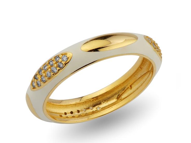 white enamel wedding ring / alyans