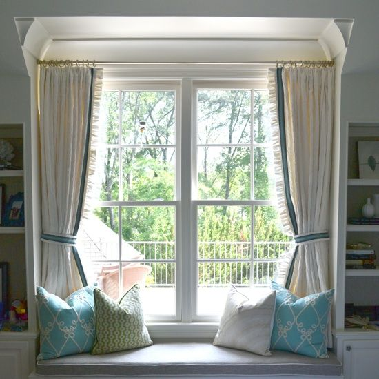 25+ Best Ideas About Window Seat Curtains On Pinterest