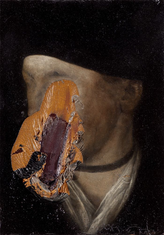 Nicola Samorì - 2011, oil on wood, 27 x 19 cm