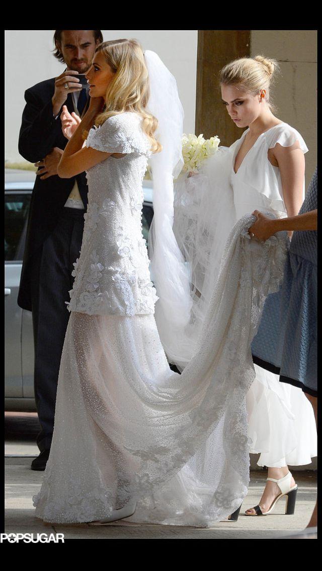 Poppy delevigne's custom chanel wedding dress