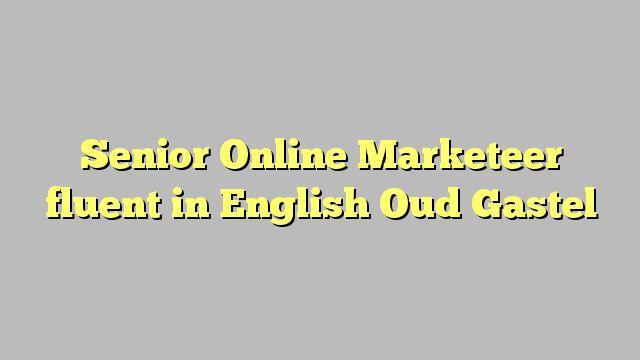 Senior Online Marketeer fluent in English Oud Gastel
