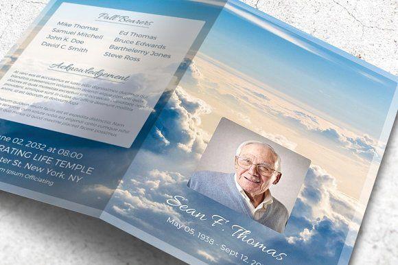 Funeral Program Brochure - Heaven by Final Tribute on @creativemarket
