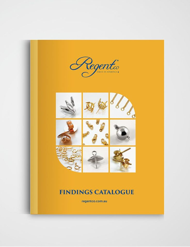 Regentco Jewellery Findings Product Catalogue designed by Emma Wright