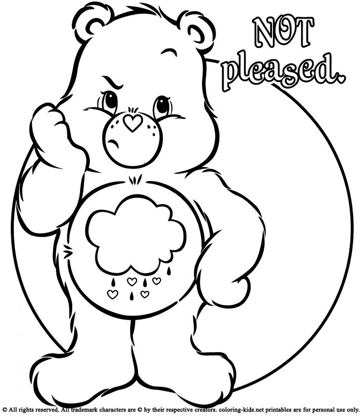 Grumpy Bear Coloring Pages Care Bears Page 13