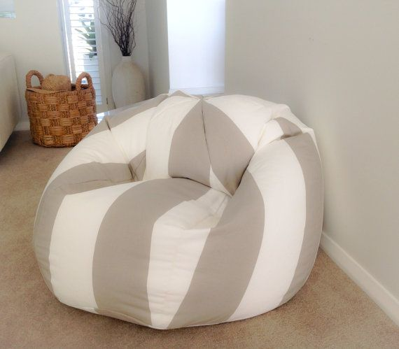Hey, I found this really awesome Etsy listing at https://www.etsy.com/listing/217508846/bean-bag-coastal-ecru-and-white-stripes