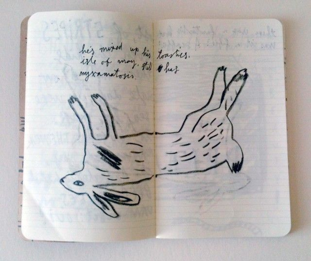 sketchbook, jonny hannah, rabbit, hear, lettering, ink, drawing, print, illustration